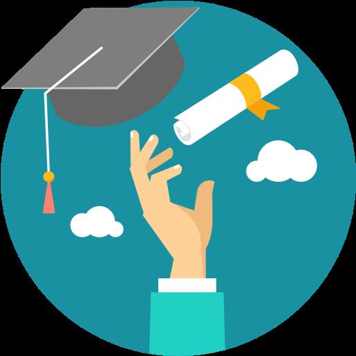 Un étudiant qui célèbre sa gradution.